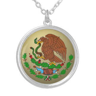 Mexico Coat arms Silver Plated Necklace