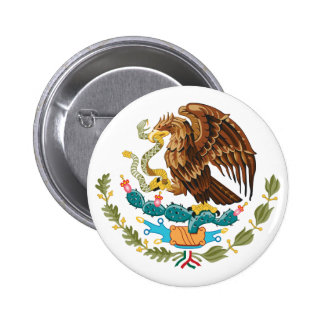 Mexico Coat of Arms Button