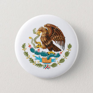 Mexico country flag nation symbol republic 6 cm round badge