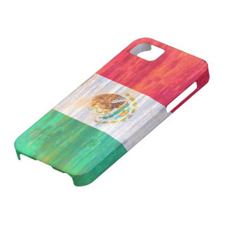 Mexico distressed Mexican flag iPhone 5 Cases