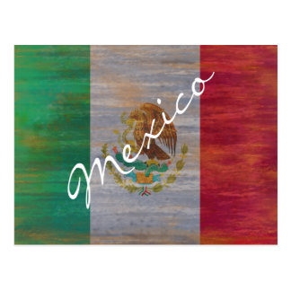 Mexico distressed Mexican flag Postcard