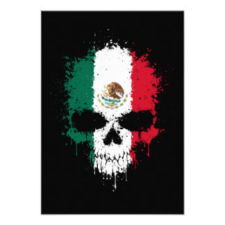 Mexico Dripping Splatter Skull Custom Announcement
