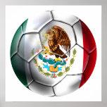 Mexico el Tri soccer ball Mexican flag gear Poster