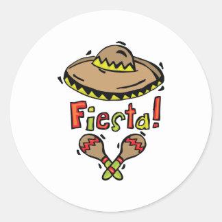 Mexico Fiesta Classic Round Sticker