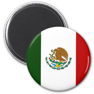 Mexico flag 6 cm round magnet