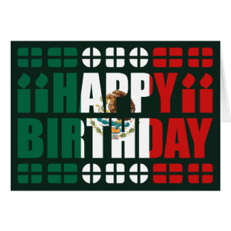 Mexico Flag Birthday Card