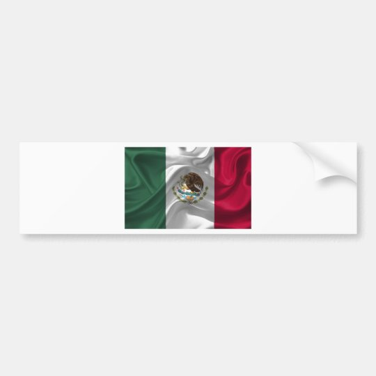 mexico-Flag Bumper Sticker