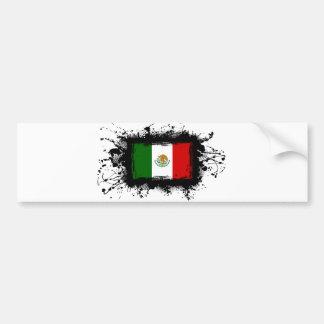 Mexico Flag Car Bumper Sticker
