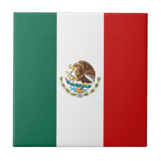 Mexico Flag Ceramic Tile