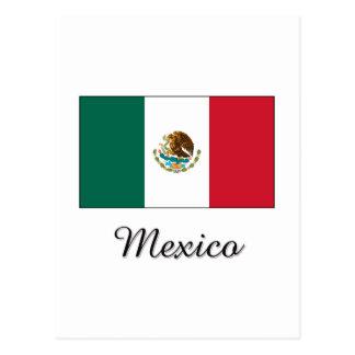 Mexico Flag Design Postcard