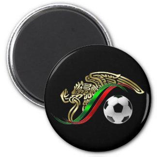 Mexico flag emblem Soccer futbol Logo 6 Cm Round Magnet