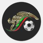Mexico flag emblem Soccer futbol Logo Round Sticker