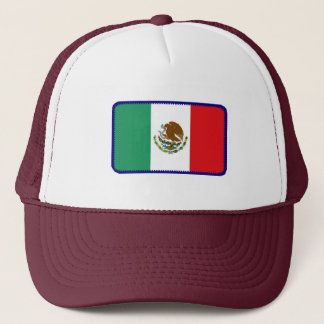 Mexico flag embroidered effect hat