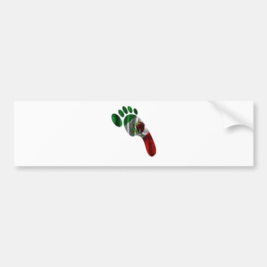 MEXICO FLAG FOOTPRINT PRODUCTS BUMPER STICKER