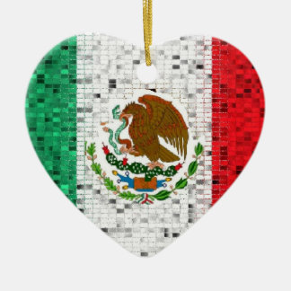 Mexico Flag glitter ornament