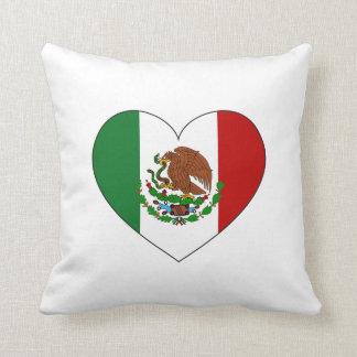 Mexico Flag Heart Cushion