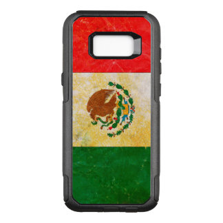 Mexico Flag in Grunge OtterBox Commuter Samsung Galaxy S8+ Case