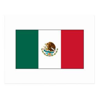 Mexico FLAG International Postcard