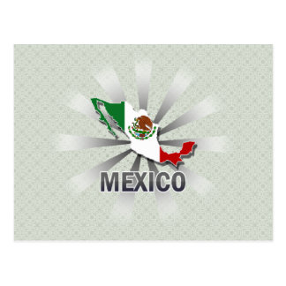 Mexico Flag Map 2.0 Postcard