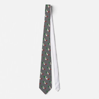 Mexico flag map tie