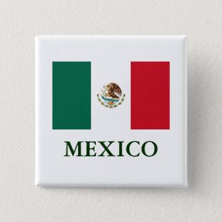 Mexico Flag Pin Back Button