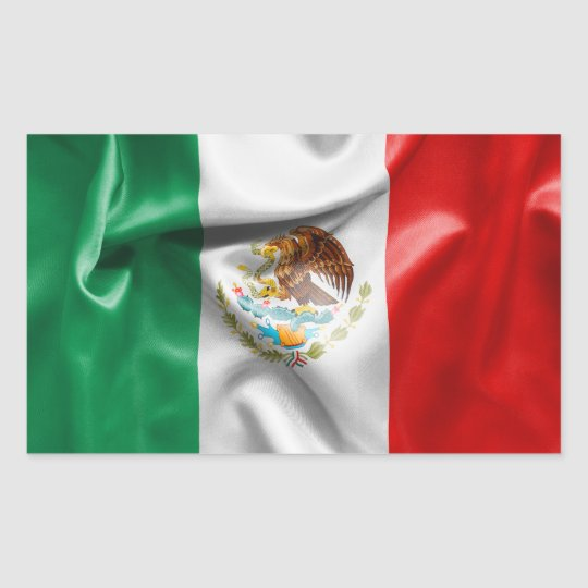 Mexico Flag Rectangular Sticker
