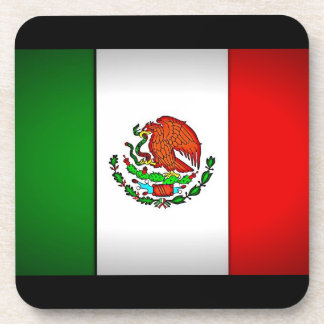 Mexico Flag Stylized Drink Coasters