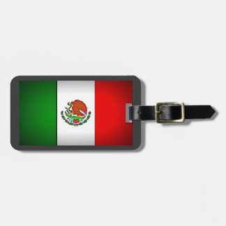 Mexico Flag Stylized Luggage Tag