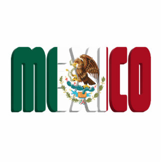 Mexico Flag Text Image Acrylic Cut Out