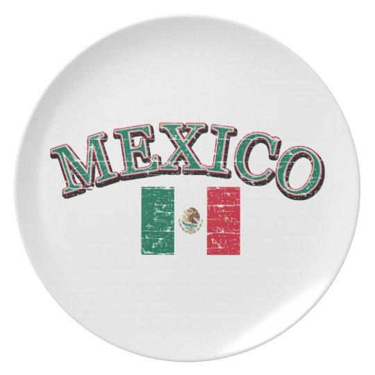 Mexico football design plate