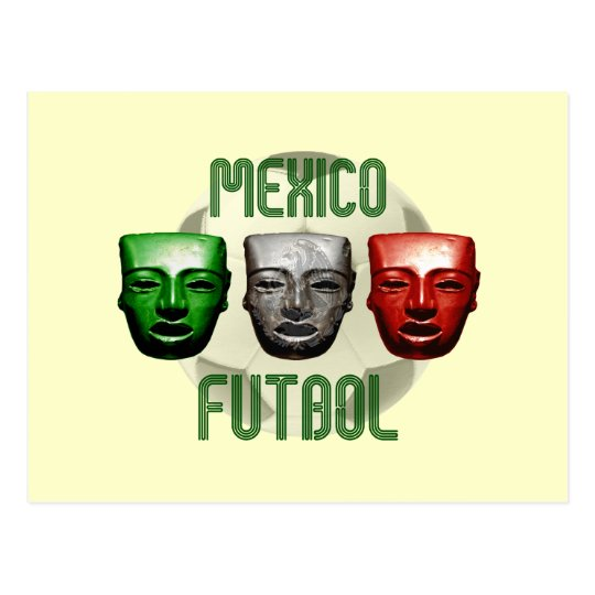 Mexico Futbol masks for El Tri fans Postcard