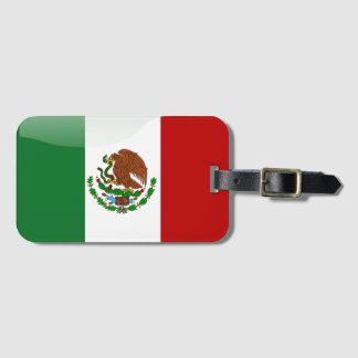 Mexico glossy flag luggage tag