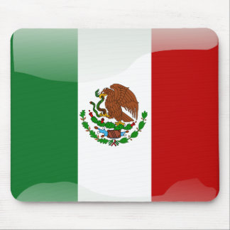 Mexico glossy flag mouse mat