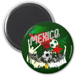 Mexico Grunge Futbol Mexicano Soccer gifts 6 Cm Round Magnet