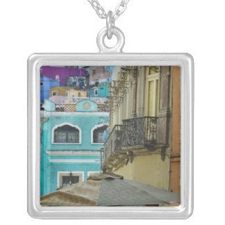 Mexico, Guanajuato. Densely packed assortment of Silver Plated Necklace