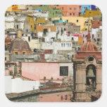 Mexico, Guanajuato State, Guanajuato. Templo de 2 Square Sticker