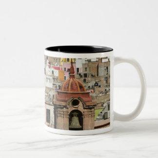 Mexico, Guanajuato State, Guanajuato. Templo de 2 Two-Tone Coffee Mug
