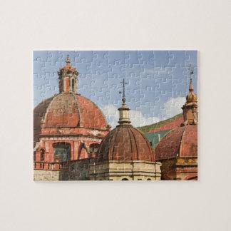 Mexico, Guanajuato State, Guanajuato. Templo de Jigsaw Puzzle