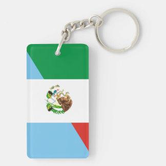 mexico guatemala half flag country symbol key ring