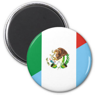 mexico guatemala half flag country symbol magnet