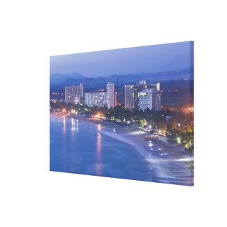 Mexico, Guerrero, Ixtapa. Ixtapa Hotels along Canvas Print