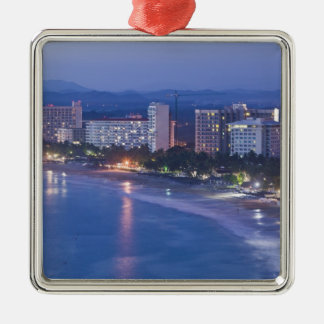Mexico, Guerrero, Ixtapa. Ixtapa Hotels along Christmas Ornament