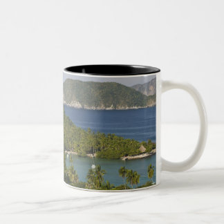 Mexico, Guerrero, Zihuatanejo. Playa Las Gatas- Two-Tone Coffee Mug