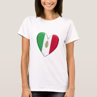 Mexico Heart Flag T-Shirt