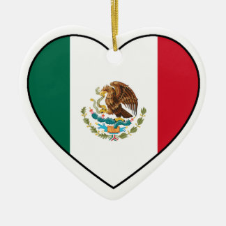 Mexico Heart Ornament for Christmas Tree