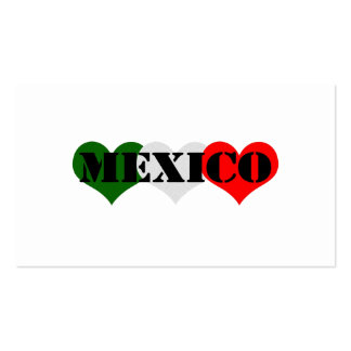 Mexico Heart Pack Of Standard Business Cards