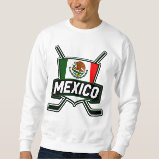 Mexico Ice Hockey Flag Sweatshirt