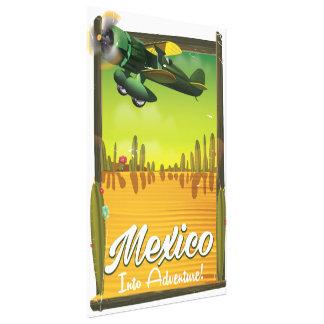 Mexico into adventure! canvas print