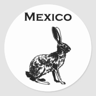 Mexico Jackrabbit Logo Round Sticker
