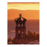 Mexico, Jalisco, Puerto Vallarta. Church tower Postcard